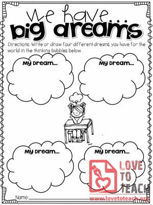 Big Dreams Activity