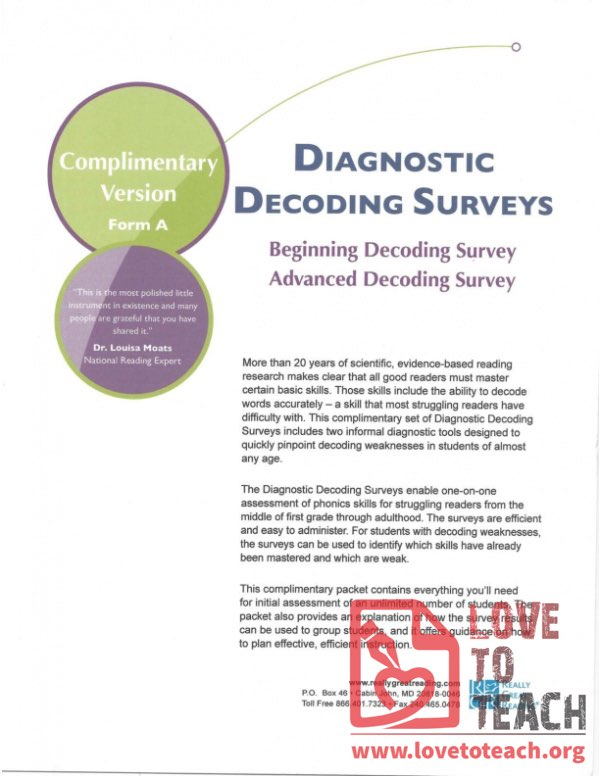 Diagnostic Decoding Surveys