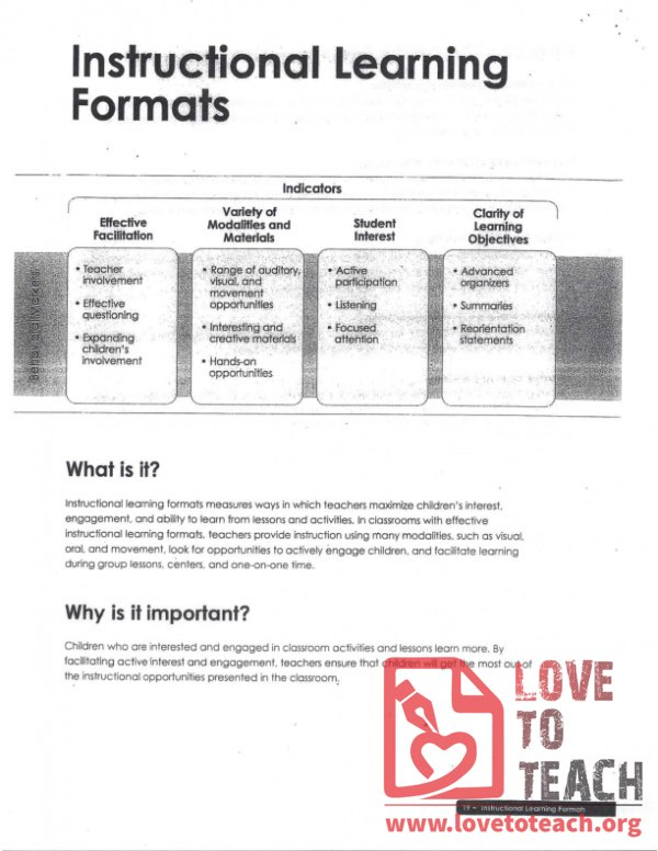 Dimensions - Instructional Learning Formats