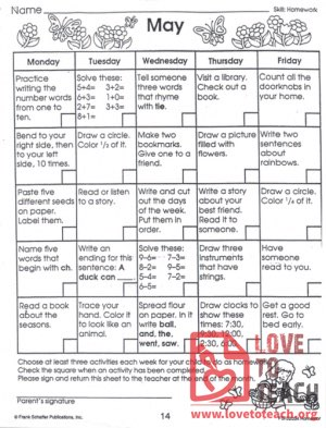 May Activity Sheet