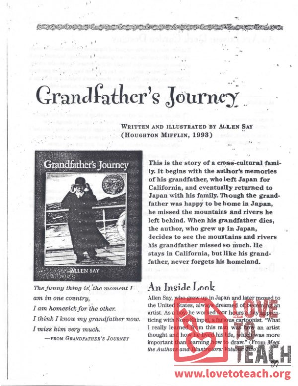 Grandfather's Journey - Teacher's Guide