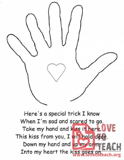 picture relating to Kissing Hand Printable named Absolutely free Education Components, Lesson Options, Worksheets