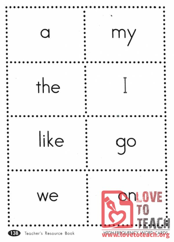 High Frequency Words And Lists Lovetoteach Org