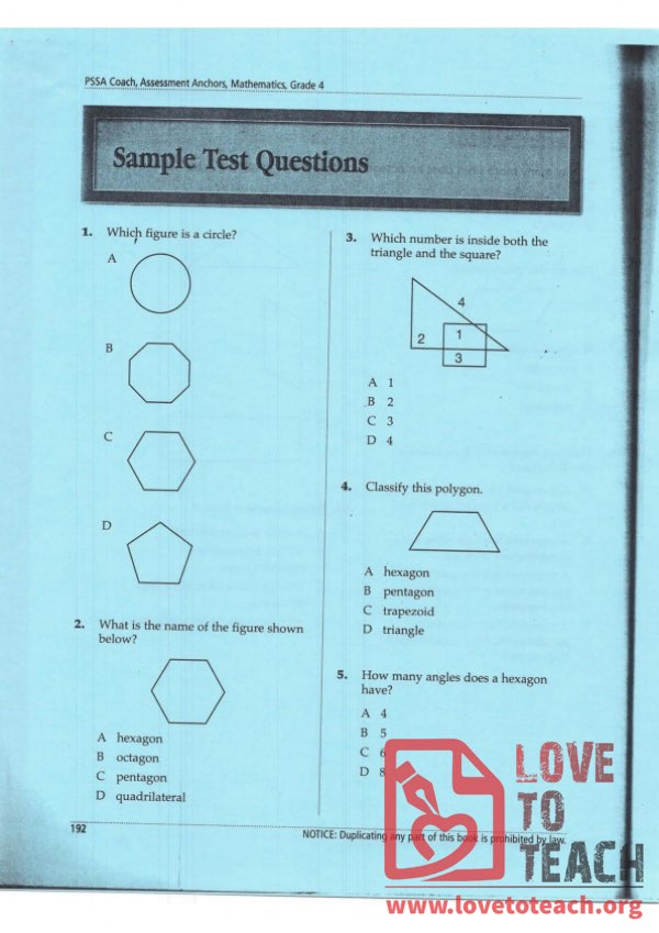 Polygon Quiz (with Answer Key)