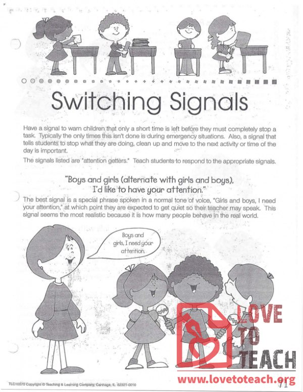 Transitions - Switching Signals