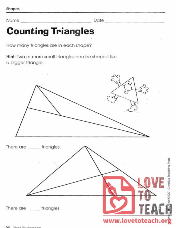 Counting Shapes Worksheets
