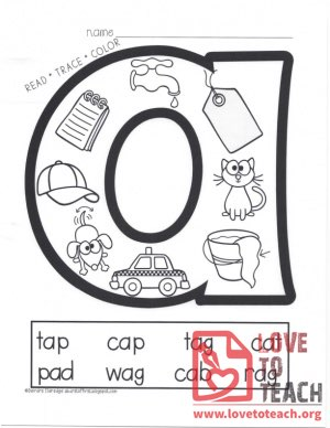 Read-Trace-Color - Vowels