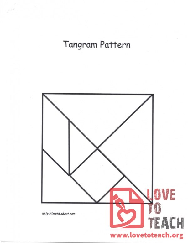 Tangram Square Pattern