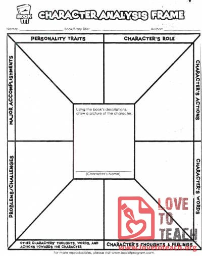 Character Analysis Worksheet