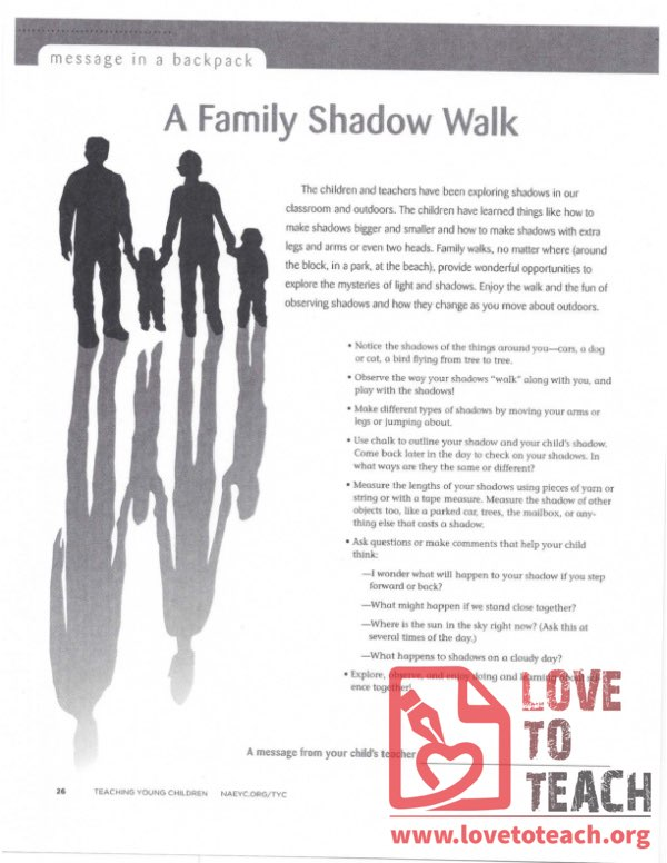 Message in a Backpack - A Family Shadow Walk