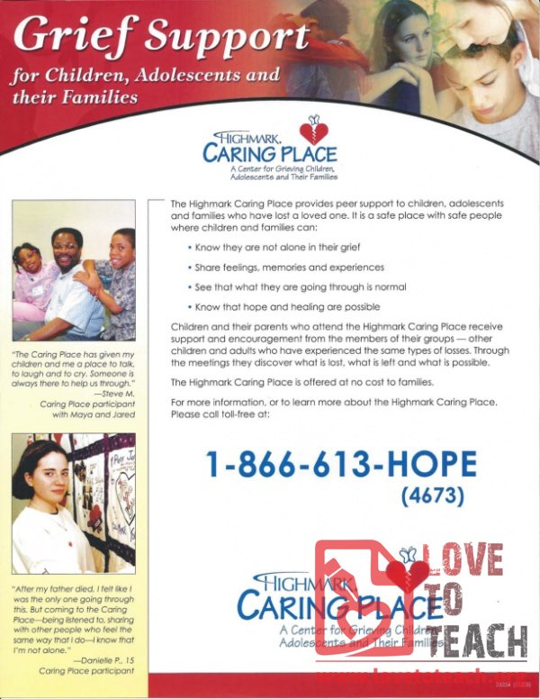 Grief Support for Children, Adolescents, and Families