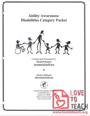 Ability Awareness - Disabilities Category Packet