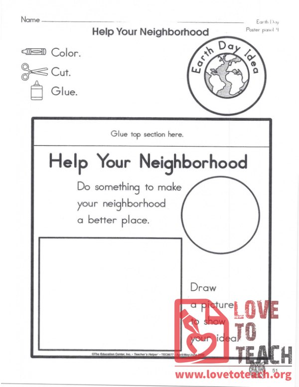 Help your Neighborhood Worksheet