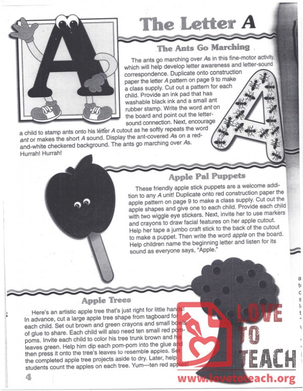 Letter A Activity Book