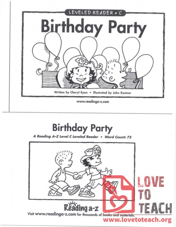 Birthday Party - Leveled Reader - C