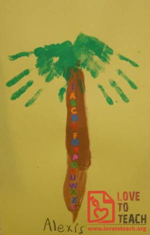 Chicka Chicka Boom Boom Palm Tree Craft