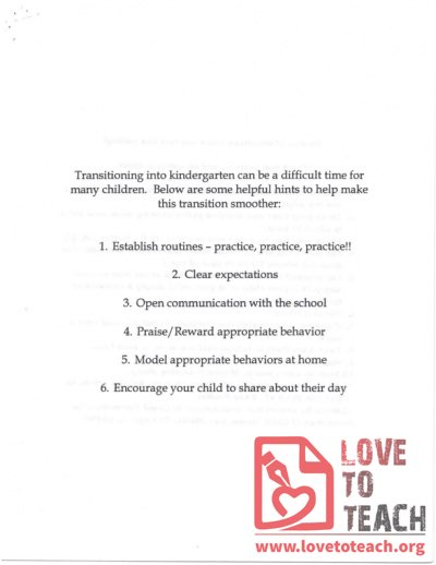 5 Tips for Transitioning into Kindergarten