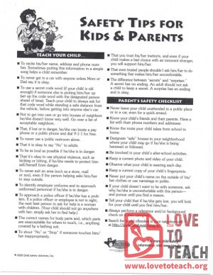 Safety Tips For Kids and Parents