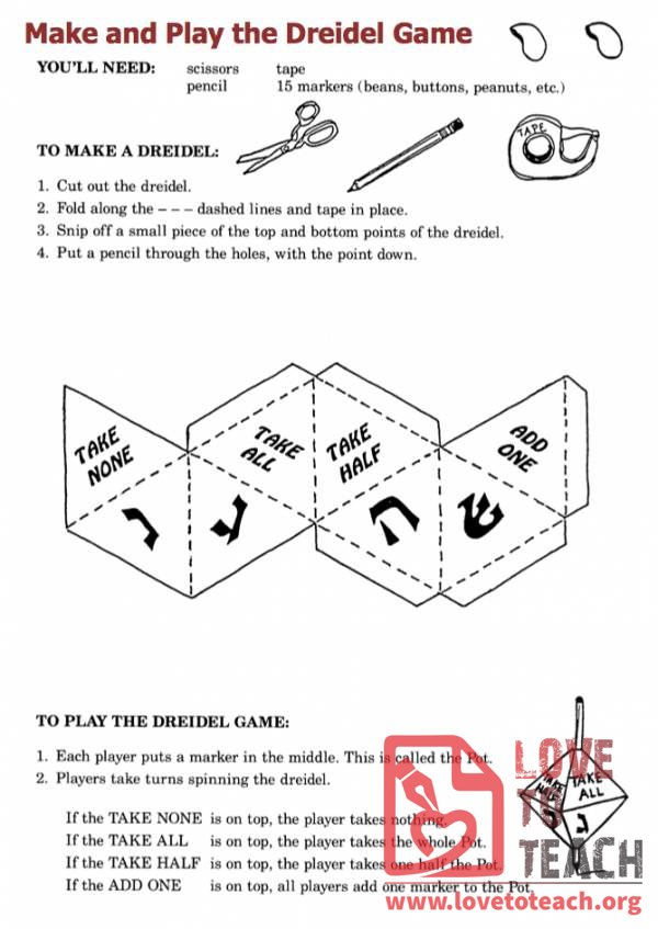 image regarding How to Play the Dreidel Game Printable identified as Dreidel Sport