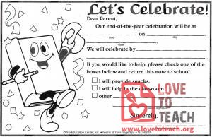 End of Year Celebration Invitations