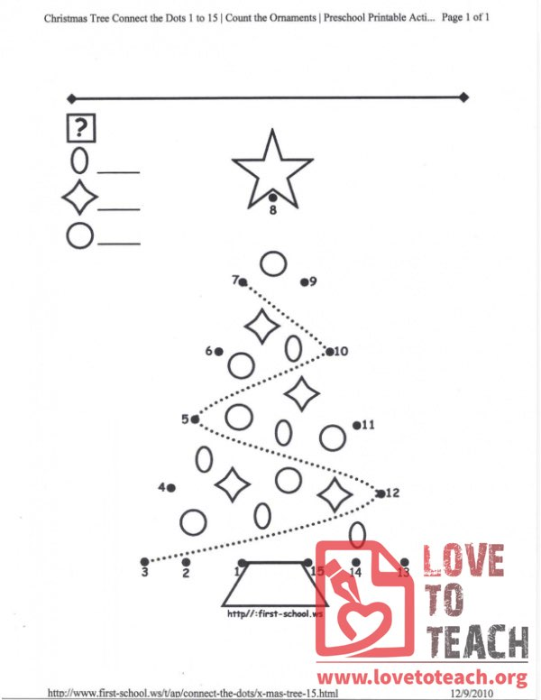 Christmas Tree Connect-the-Dots