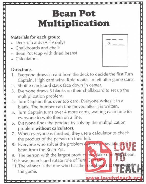 Bean Pot Multiplication