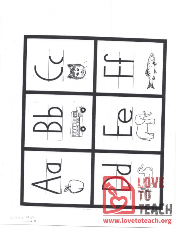 Alphabet Display with pictures