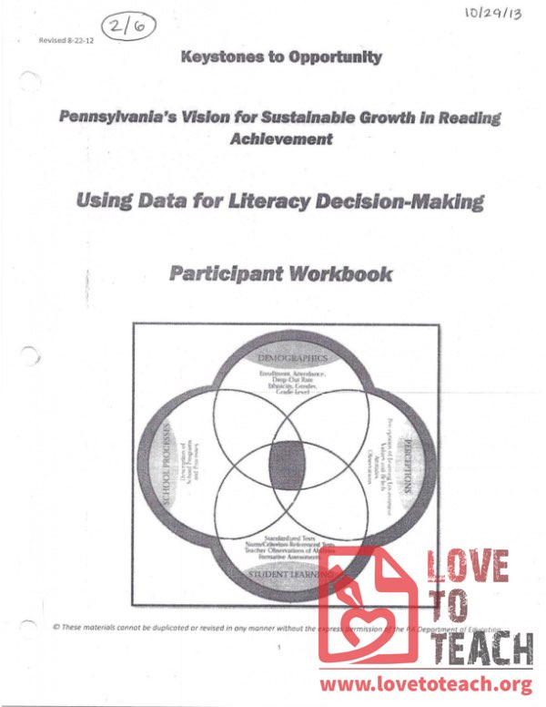 Keystones to Opportunity - Participant Workbook - Using Date for Literacy Decision-Making