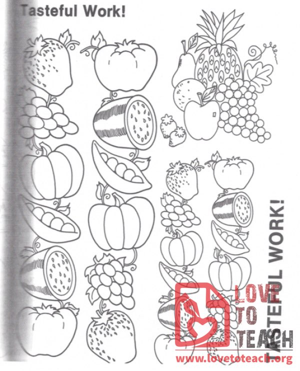 Tasteful Work! Coloring Pages