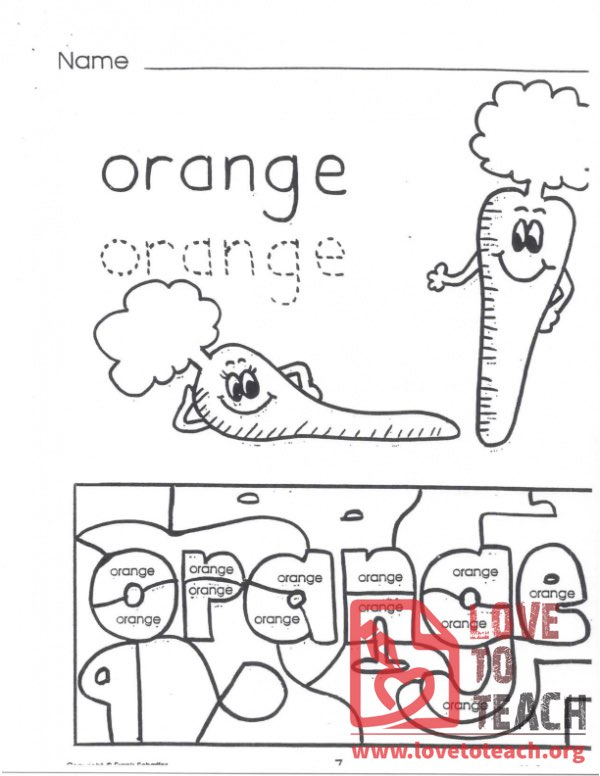 My Color Book - Orange