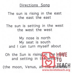 Directions Song