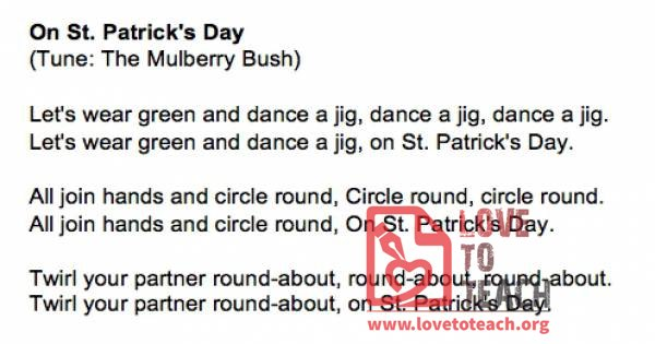 On St. Patrick's Day Song