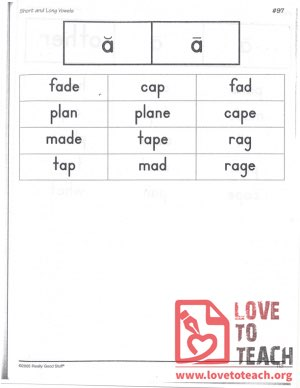 Short and Long Vowels - a
