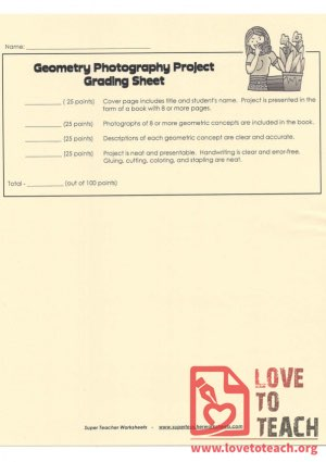 Geometry Photography Project - Grading Sheet