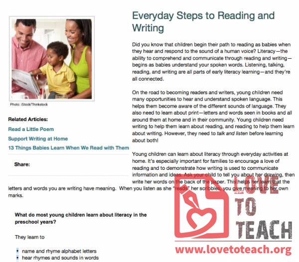 Everyday Steps to Reading and Writing