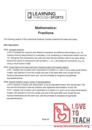 Learning through Sports - Mathematics - Fractions