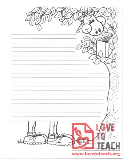 Lined  Writing Paper Elephant