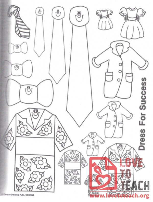 Dress for Success Coloring Pages