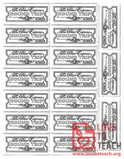 It's just a graphic of Printable Polar Express Ticket for train ride