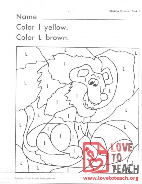L and l Coloring Page