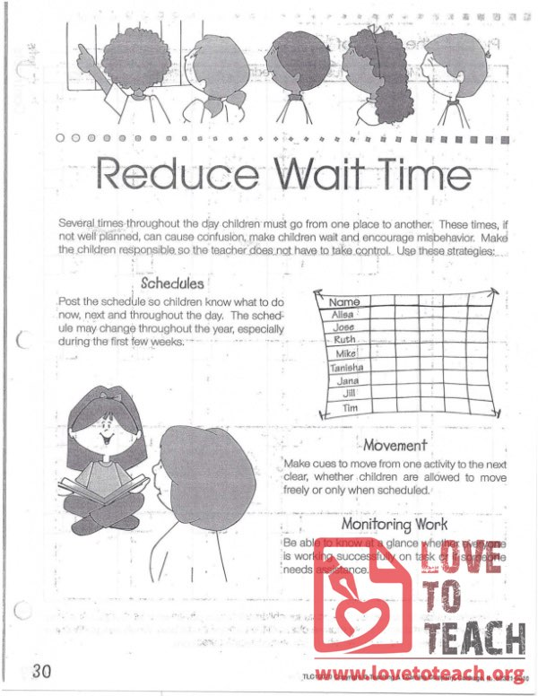 Transitions - Reduce Wait Time