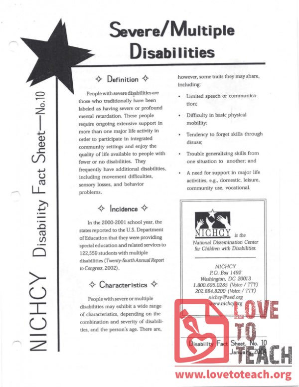 Ability Awareness - Severe Multiple Disabilities